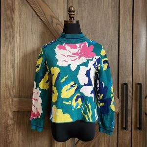 Anthropologie HWA Floral Sweater